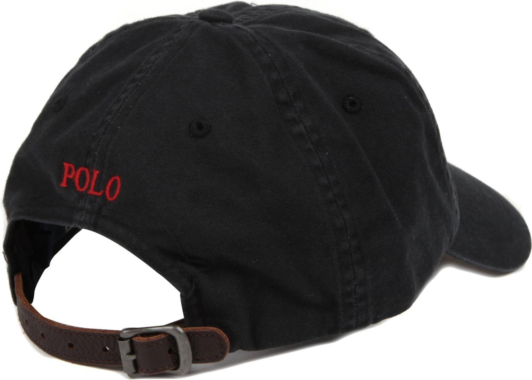 Ralph Lauren Signature pony baseball cap in Black for Men - Lyst 2ecc9f875c8