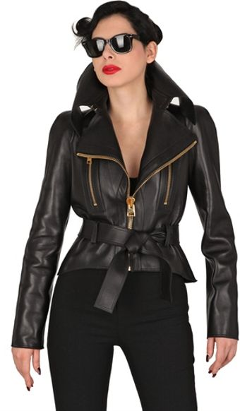 Tom Ford Maxi Zip Belted Nappa Leather Jacket - Lyst