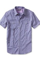 Banana Republic Shortsleeve Microcheck Utility Shirt - Lyst