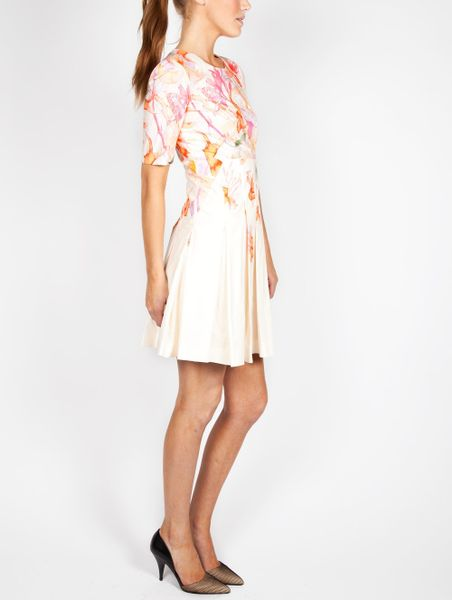 Cacharel Print Aquarelle Dress In White Floral Lyst