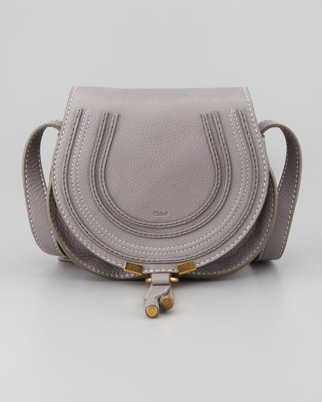 Chlo�� Marcie Mini Saddle Bag in Gray (grey) | Lyst