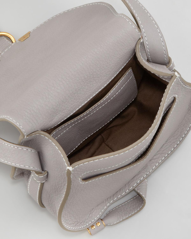 Chlo¨¦ Marcie Mini Saddle Bag in Gray (grey) | Lyst