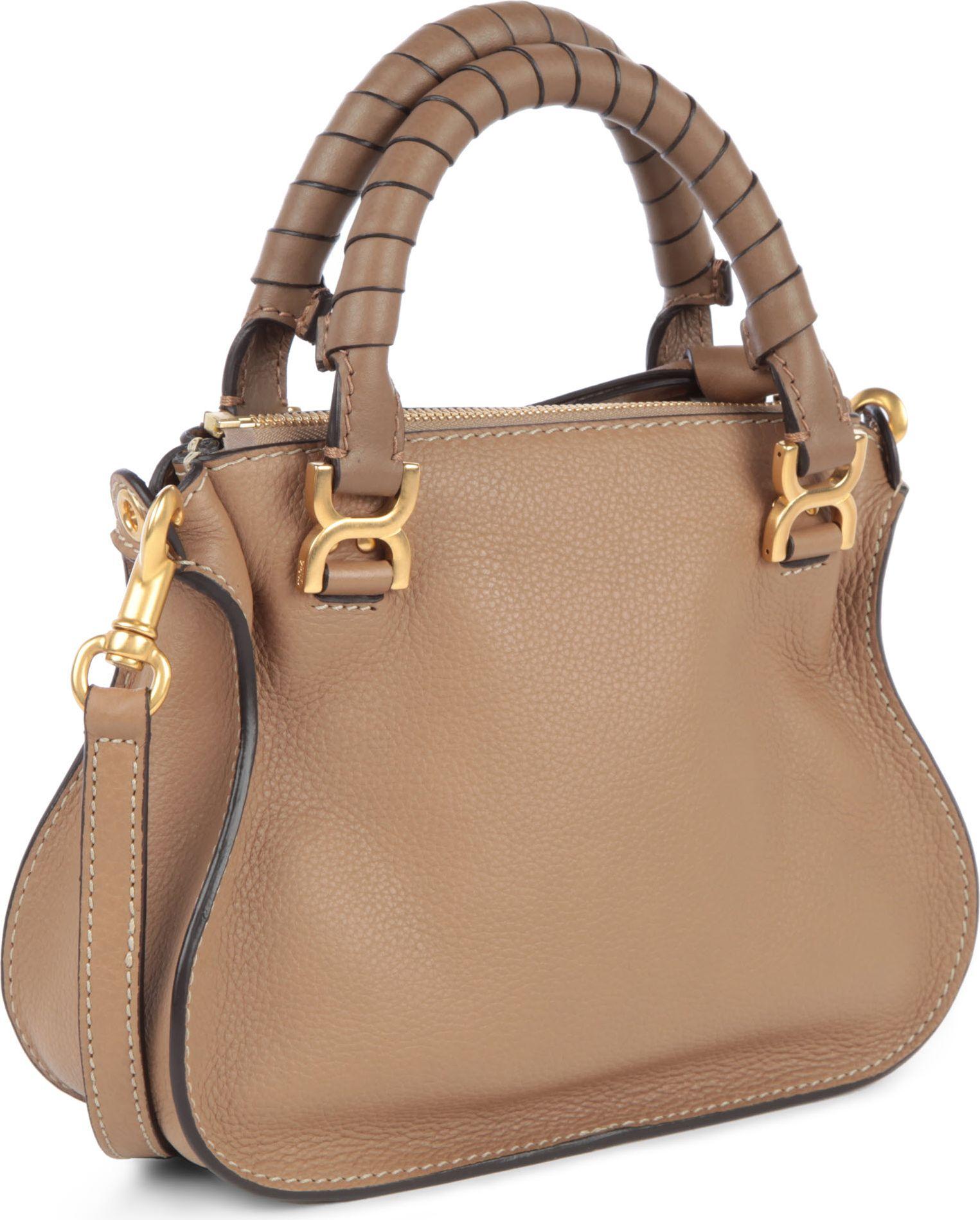 Chlo¨¦ Marcie Mini Crossbody Bag in Brown (nut) | Lyst
