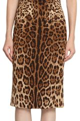 Dolce & Gabbana Square Neck Leopard Dress