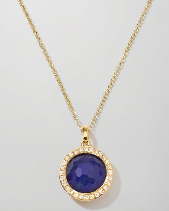 Ippolita Rock Candy Mini Lollipop Diamond Lapis Necklace - Lyst