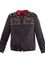Isabel Marant Fairlea Embellished Quilted Satin Bomber Jacket