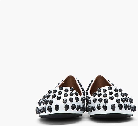 Jeffrey Campbell Black And White Skulltini Skull Studded