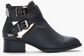 Jeffrey Campbell Black Everly Cutout Buckle Boots - Lyst