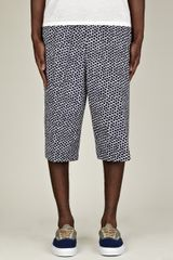 Jil Sander Mens Printed Sports Long Shorts - Lyst