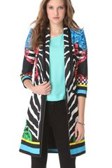 Just Cavalli Orpheus Printed Coat - Lyst