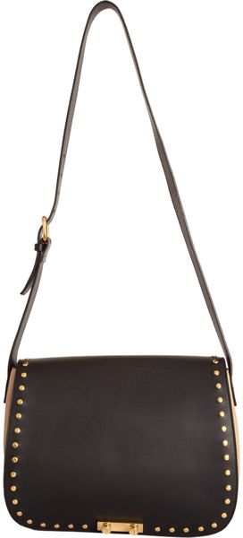 Marni Large Studded Saddle Bag - Lyst