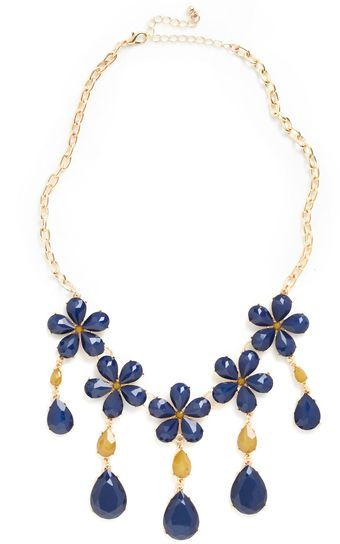 ModCloth Drive Me Navy Necklace - Lyst
