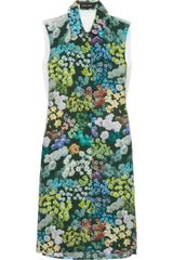 Sophie Hulme Floral-Print Silk Dress - Lyst