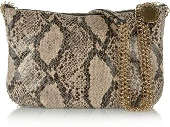 Stella McCartney Laminated Faux Python Shoulder Bag - Lyst