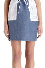 Thakoon Addition Eyelet Short Sleeve Cargo Dress - Lyst