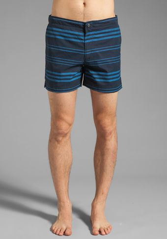 Theory Kahana Kosmor St Short in Eclipse Stripe - Lyst