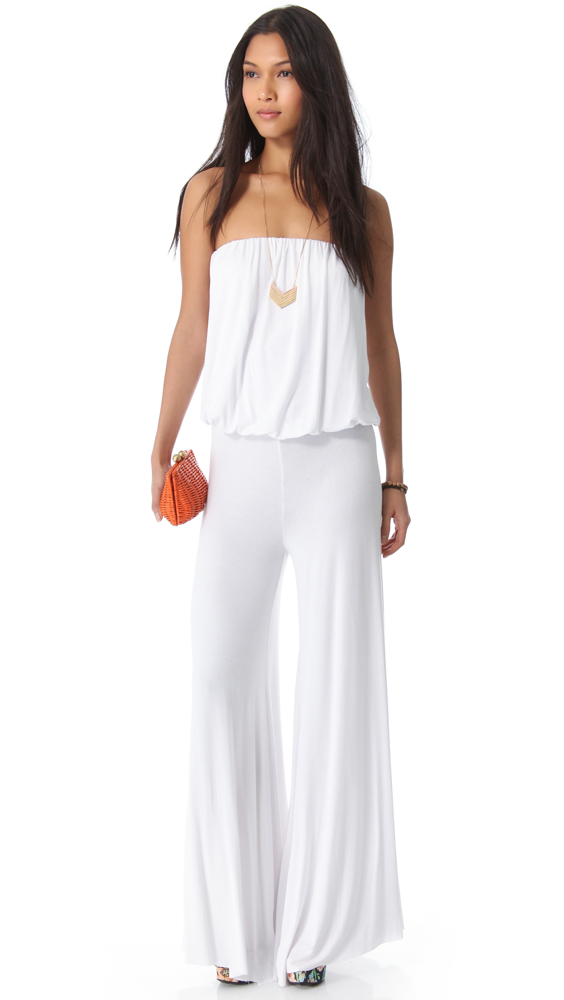 38500ab6e1a Lyst - Young Fabulous   Broke Sydney Jumpsuit - Black in White
