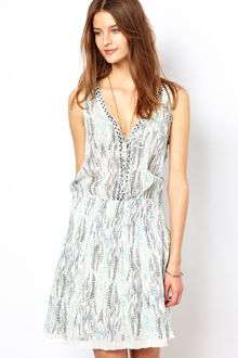 Zadig & Voltaire  Printed Cotton Voile Dress - Lyst