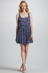 Marc By Marc Jacobs Lly Checkprint Jersey Dress - Lyst