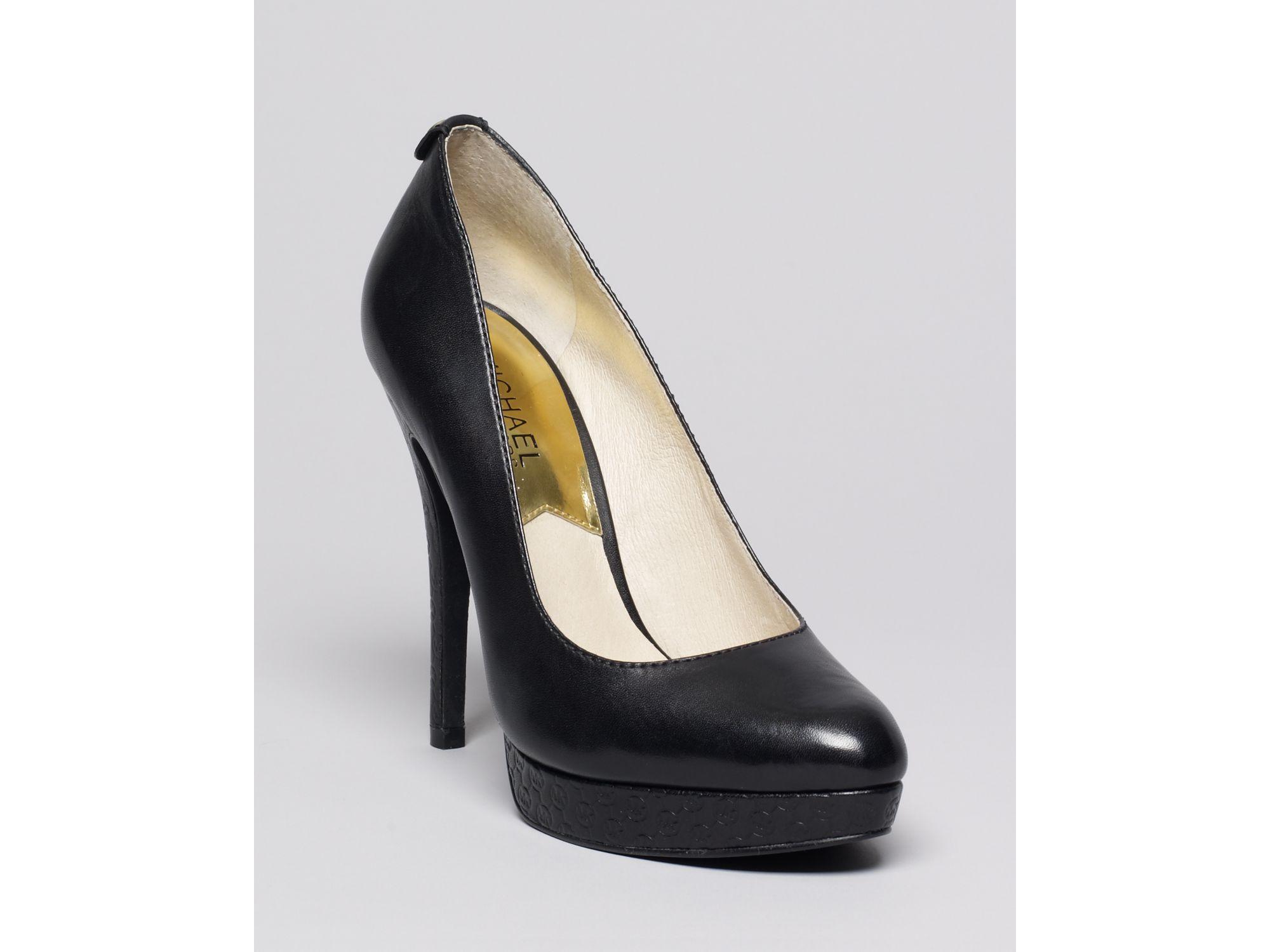 michael by michael kors platform pumps york high heel in black lyst. Black Bedroom Furniture Sets. Home Design Ideas