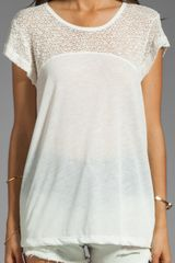 LNA Alpine Knit Tee in Natural-White - Lyst
