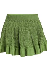 Alaïa Honeycomb Pleat Mini Skirt - Lyst