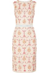 Erdem Mallory Crystal-Embellished Silk-Blend Dress - Lyst