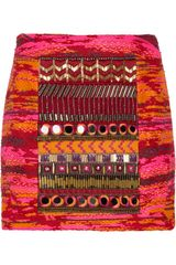 Matthew Williamson Embellished Woven Jacquard Mini Skirt - Lyst