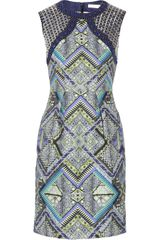 Matthew Williamson Embellished Printed Linen Dress - Lyst