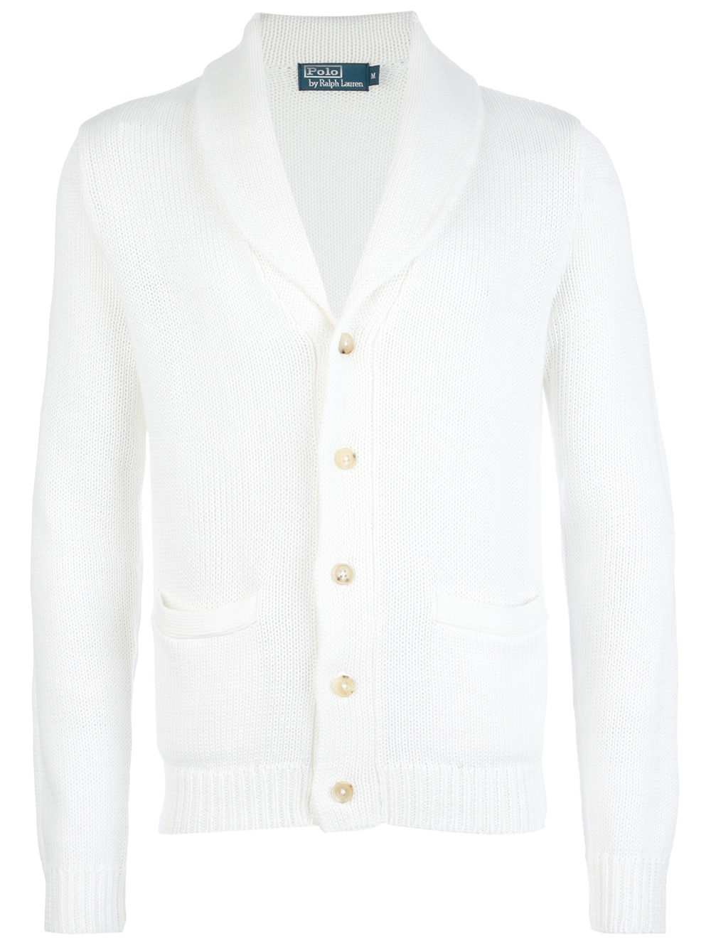 polo ralph lauren shawl collar cardigan in white for men. Black Bedroom Furniture Sets. Home Design Ideas