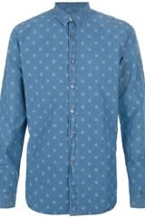 PS by Paul Smith Spotty Denim Shirt - Lyst