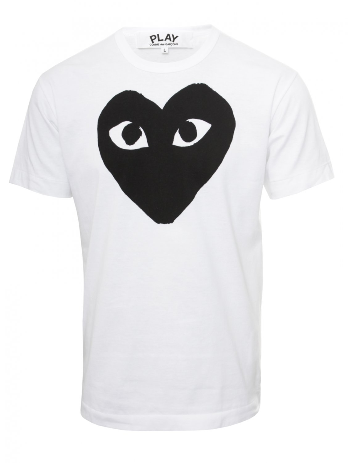 comme des gar ons play mens black heart t shirt white in. Black Bedroom Furniture Sets. Home Design Ideas