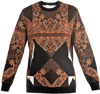 Givenchy Silkscarfprint Sweatshirt - Lyst