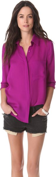 Haute Hippie Blouse with Oversized Pocket - Lyst