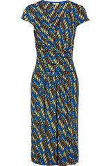 Issa Patterned Jersey Dress - Lyst