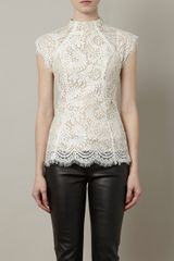 Lover Sara Lace Top in White - Lyst