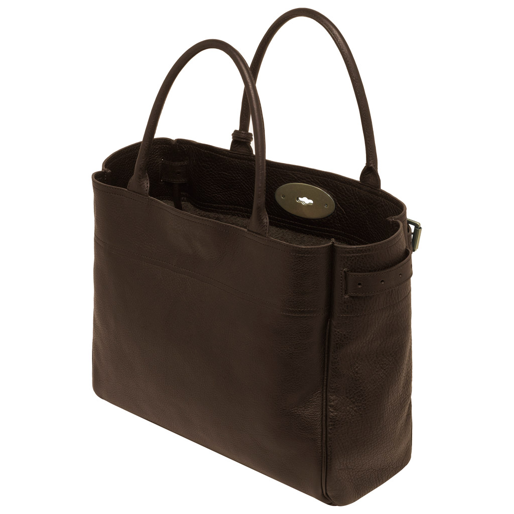 Lyst mulberry bayswater tote in brown for The bayswater