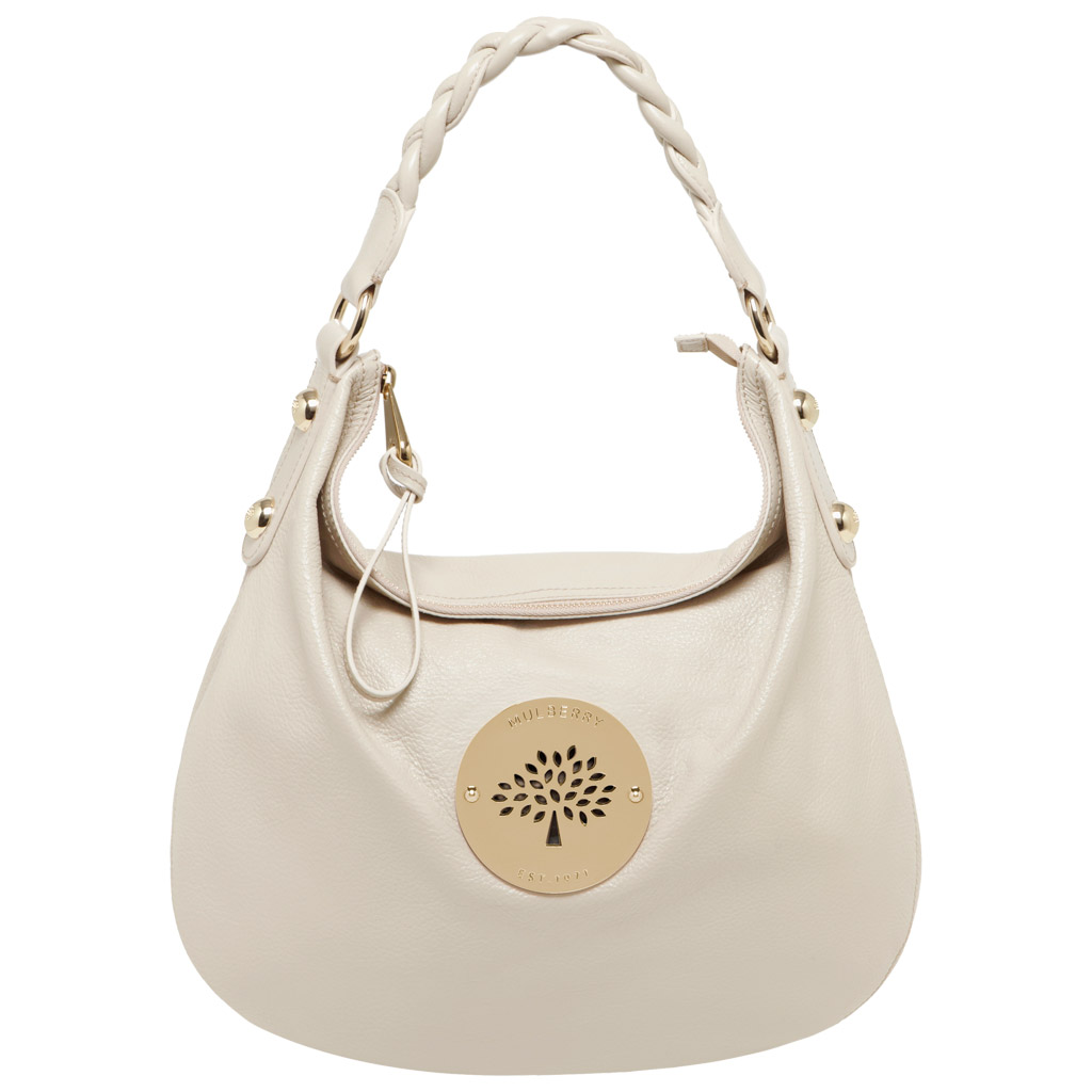 Lyst - Mulberry Daria Medium Hobo in White 3bcf824ad8e9f
