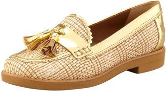 Tory Burch Careen Metallicraffia Runway Tassel Loafe - Lyst