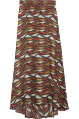 Tucker Printed Silk Maxi Skirt - Lyst
