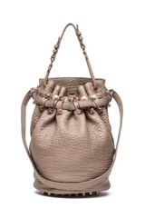 Alexander Wang Diego Bucket Bag with Rose Gold in Latte