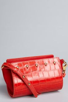 Alexander Wang Tang Croc Embossed Leather Pelican Convertible Clutch - Lyst