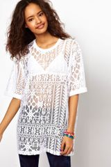 Asos Boyfriend T-shirt in Lace