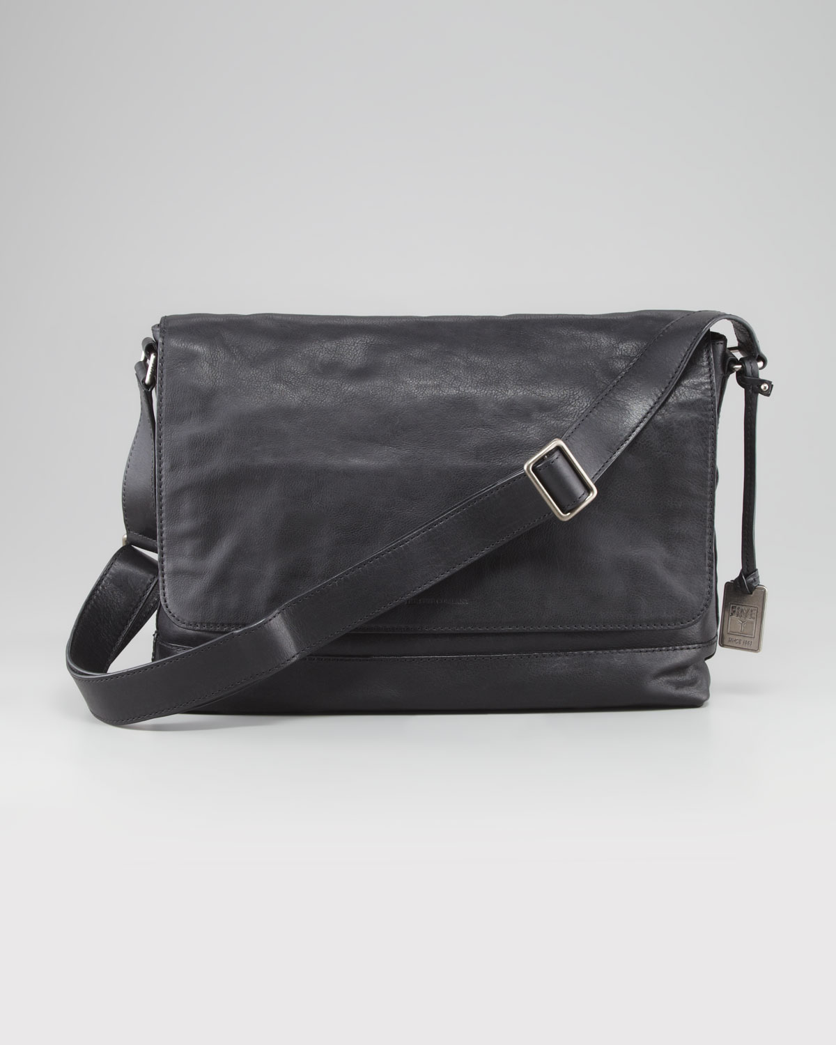 Frye James Leather Messenger Bag in Black for Men | Lyst