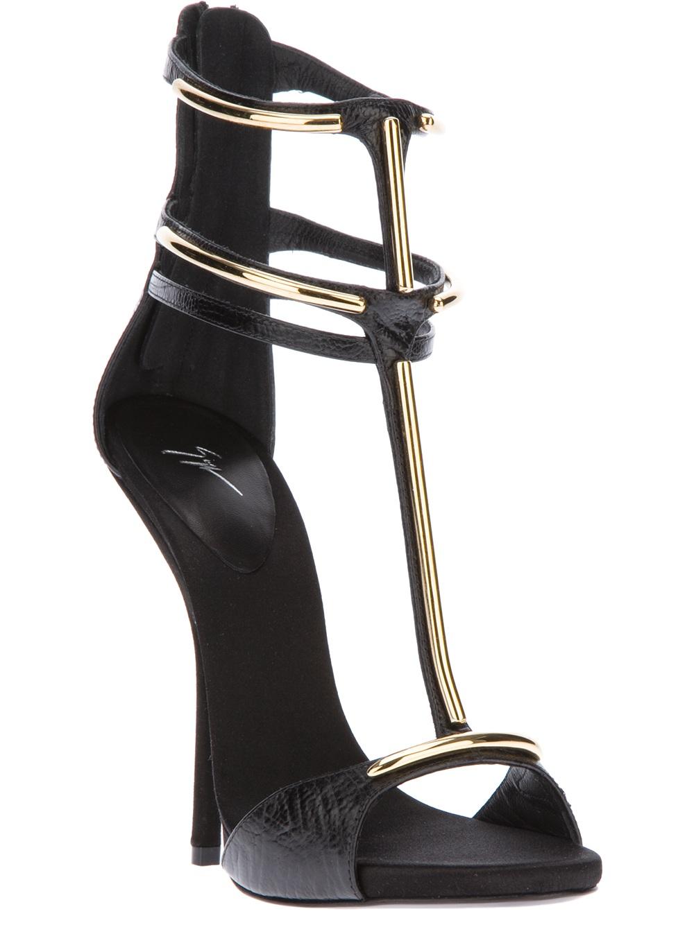 Black Alien sandals with rhinestones Giuseppe Zanotti nI6UjKY