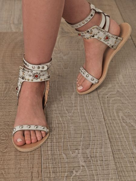 Isabel Marant Elvis Sandals In White Lyst
