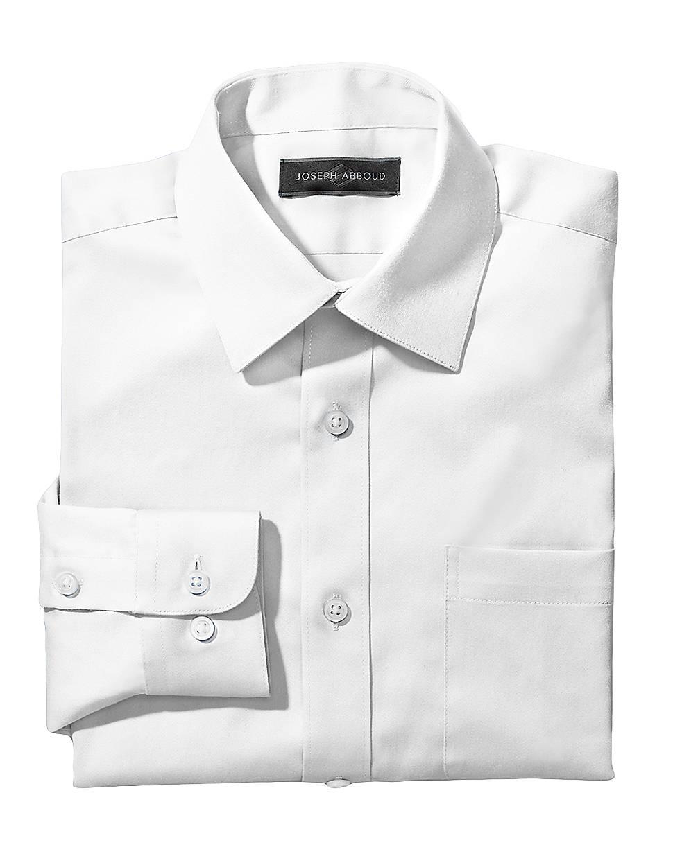 Joseph abboud 820 dress shirt in white for men lyst for Joseph abboud dress shirt