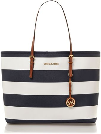 Michael Kors Jet Set Travel Striped Medium Tote - Lyst