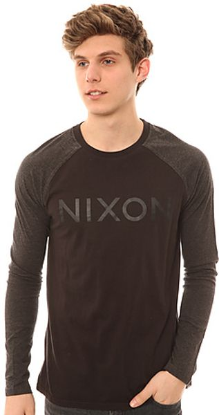 Nixon The Osborne Raglan in Black Heather - Lyst