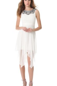Notte By Marchesa Silk Chiffon Cocktail Dress - Lyst